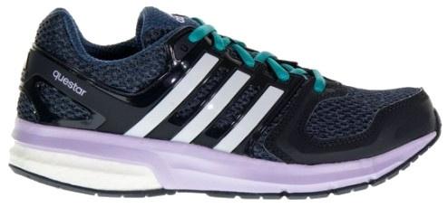 adidas Hardloopschoenen Questar dames paars-blauw maat 40 2-3