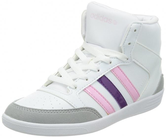 adidas Hoge sneakers Vlneo Hoops dames wit maat 39 1-3