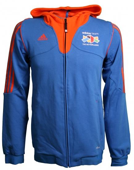 Adidas Hoodie Team Nederland heren blauw-oranje maat S