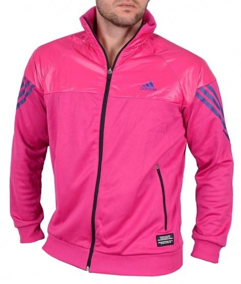 adidas Jack TC 3S Knit Track Top heren roze maat XS