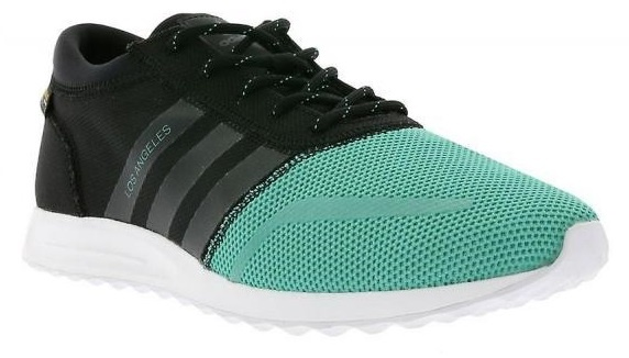 adidas Los Angeles heren sneakers zwart-groen maat 40