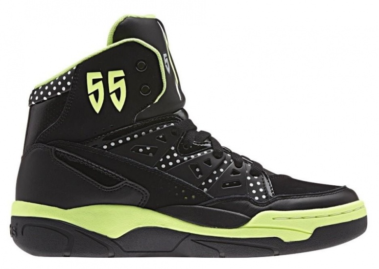 adidas Sneakers Mutombo EF High Top dames zwart lime mt 38