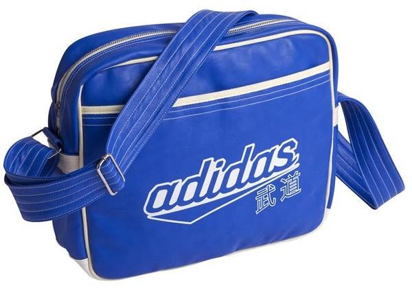 adidas schoudertas budo blauw 40 liter