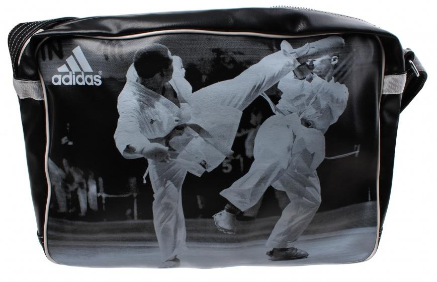 adidas schoudertas karate zwart 22 liter