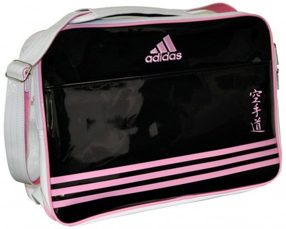 adidas schoudertas karate zwart-roze 28 liter