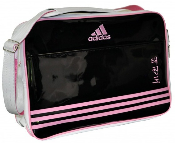 adidas schoudertas taekwondo zwart-roze 28 liter