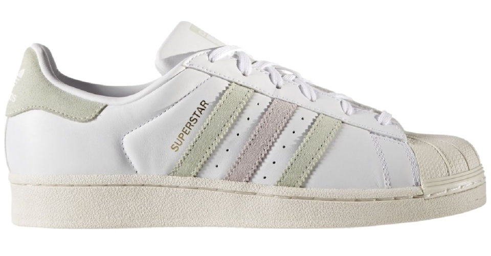 Adidas Superstar W Sneakers Ftwr White-LinGreen-Ice Purple