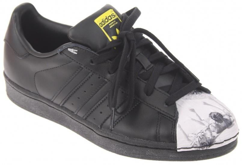 Adidas Sneakers Superstar Pharrell Williams jongens zwart maat 36 2-3