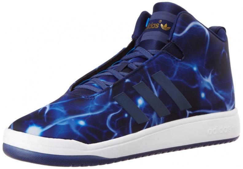 Adidas Sneakers Veritas Mid Unisex Zwart-Blauw Maat 44 2-3
