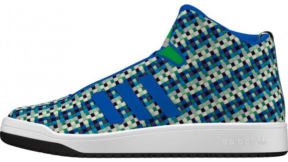 adidas sneakers Veritas Mid Weave heren blauw-groen mt 43 1-3