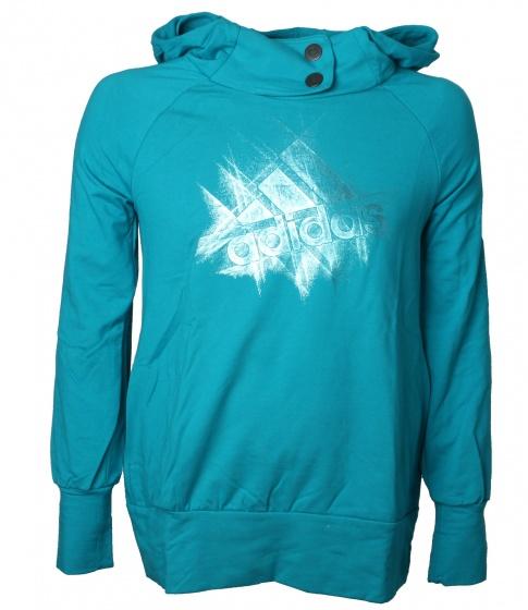 adidas sportsweater AF Q3 Hood dames lichtblauw maat S