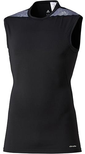 Adidas Thermosinglet Techfit heren zwart-grijs maat XS