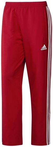 adidas T16 trainingsbroek heren rood-wit maat S