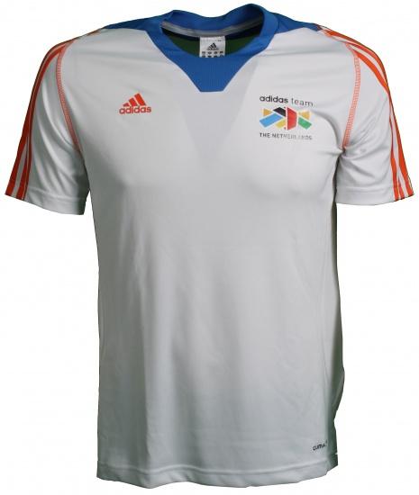 Adidas Team Nederland Shirt heren wit-oranje maat S