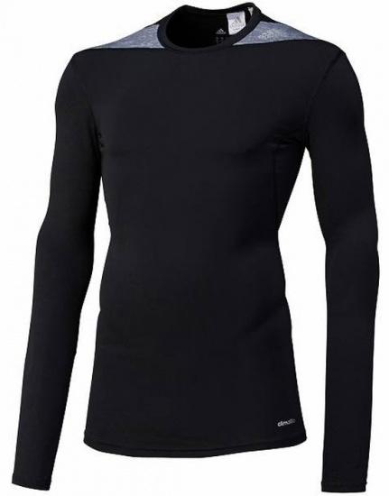 Adidas Thermoshirt Techfit LM heren zwart-grijs maat XXL