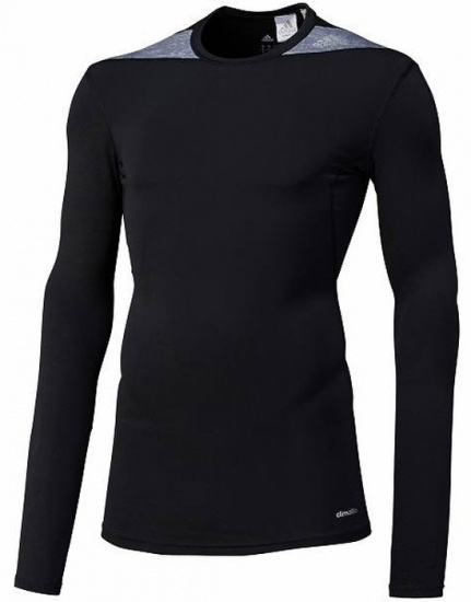 Adidas Thermoshirt Techfit LM heren zwart-grijs maat XS