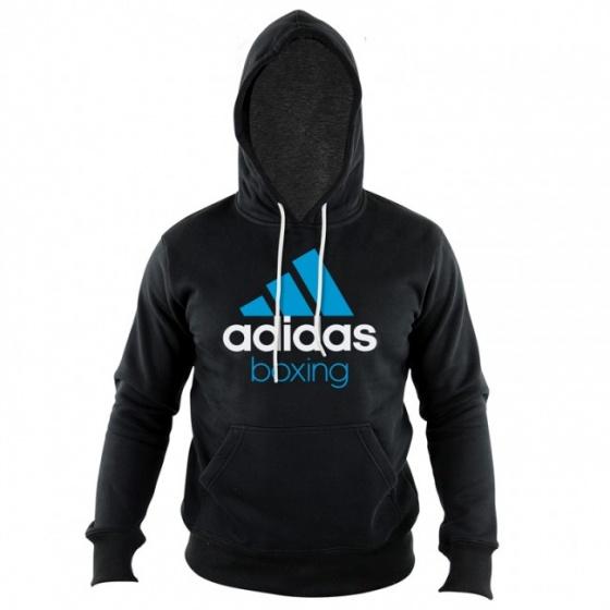 Adidas Community Hoodie Zwart-Blauw