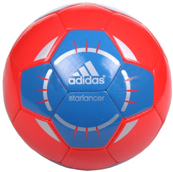 adidas voetbal Starlancer IV rood-blauw maat 5