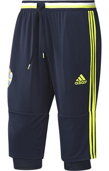 adidas Voetbalbroek 3-4 SvFF heren donker blauw maat XS