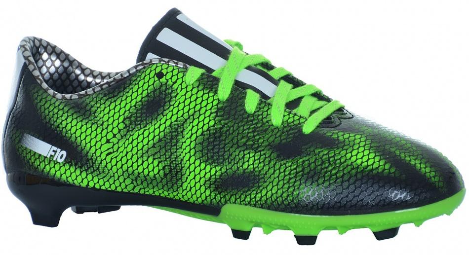 adidas voetbalschoenen F10 FG junior zwart-groen maat 38 2-3