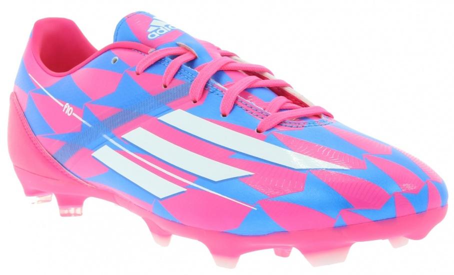 Adidas Voetbalschoenen F10 TRX FG heren roze-blauw maat 44