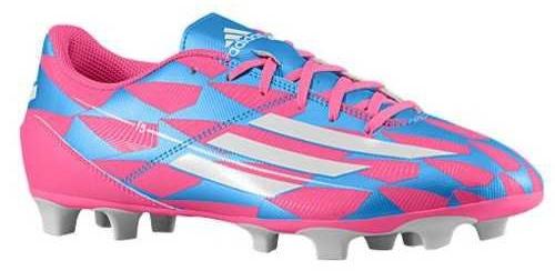 Adidas Voetbalschoenen F5 FG heren roze-blauw maat 44 2-3