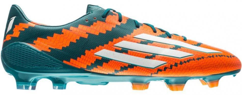 Adidas Voetbalschoenen Messi 10.1 FG heren oranje-groen mt 39 1-3