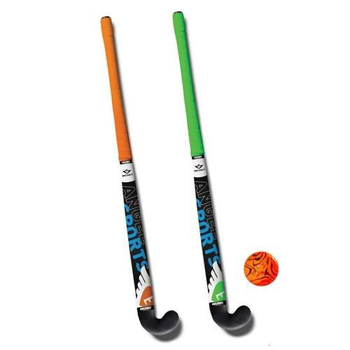 Angel Sports hockeyset 3 delig groen/oranje 30 inch