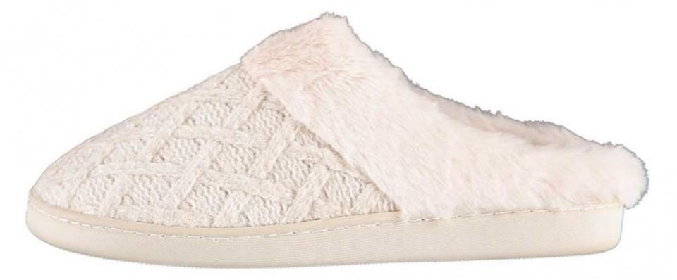 Apollo sloffen gebreid dames elastomeer/textiel wit