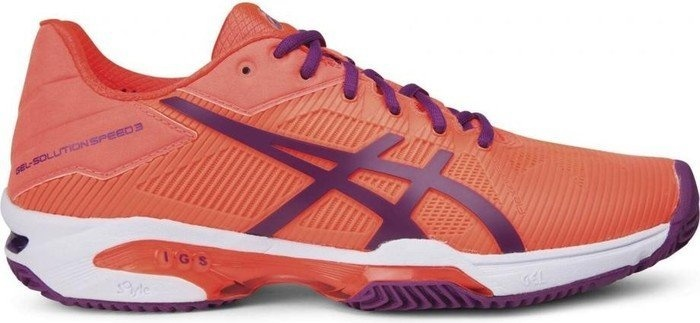 ASICS tennisschoenen Gel Solution Speed 3 Clay dames oranje maat 35,5