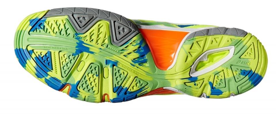 Gel Asics Chaussures De Volley-ball D'élite Deux Hommes Jaune 41,5 Mt