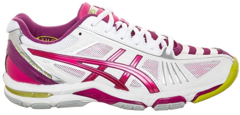 ASICS volleybalschoenen Gel Volley Elite 2 dames paars-wit maat 44,5