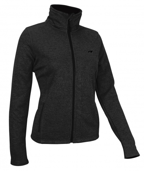 Avento Outdoorjack Fleece Dames Zwart/Grijs  (36)
