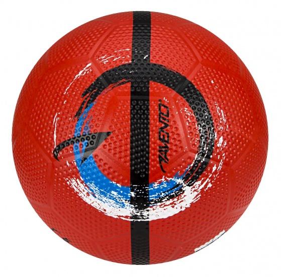 Avento Straatvoetbal Maat 5 rood-blauw-zwart-wit