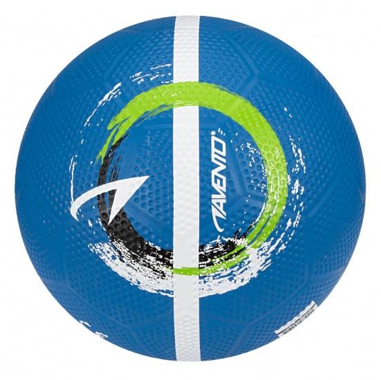 Avento Straatvoetbal Maat 5 blauw-wit-zwart-fluorgroen
