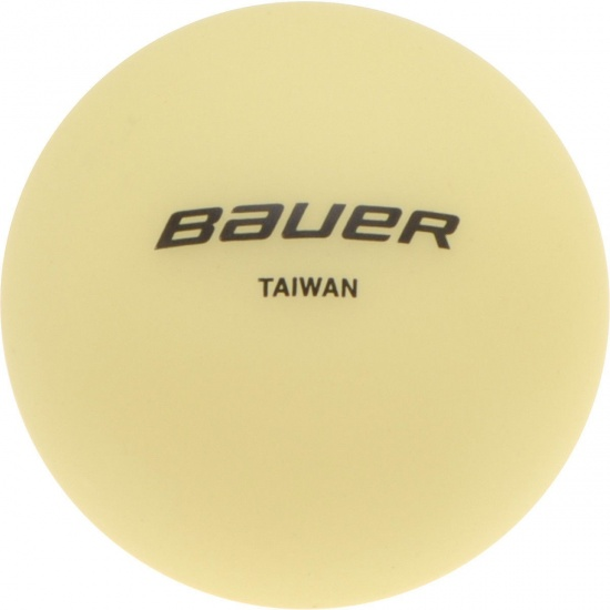 Bauer Streethockeybal Glow in the Dark geel