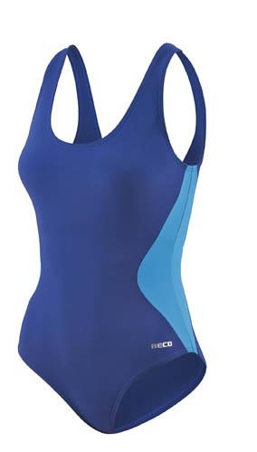 Beco badpak C cup dames polyamide blauw/donkerblauw maat 40