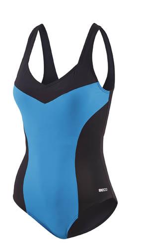 Beco badpak C cup dames polyamide blauw/zwart maat 50