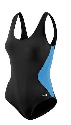 Beco badpak C cup dames polyamide zwart/blauw maat 40