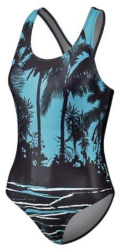 Beco badpak Competition dames polyester turquoise/zwart maat 36