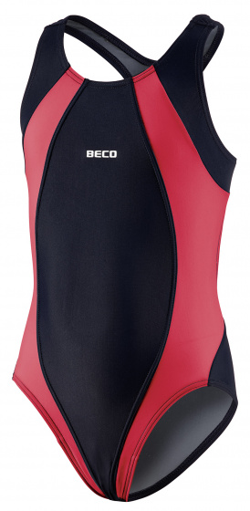 Beco badpak meisjes polyamide rood/zwart maat 128