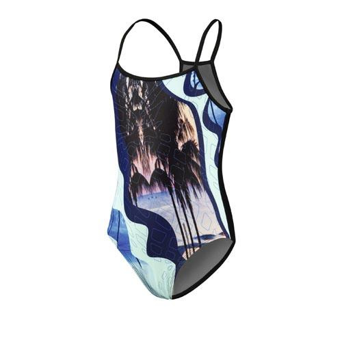 Beco badpak meisjes polyester zwart/blauw maat 152