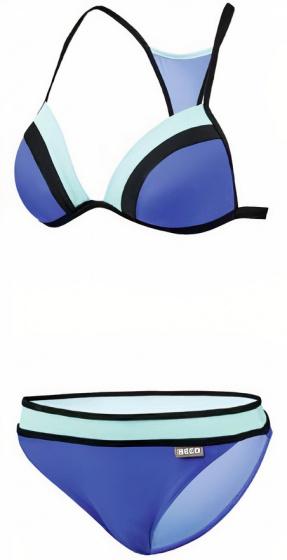Beco bikini B cup dames polyamide blauw/turquoise maat 36