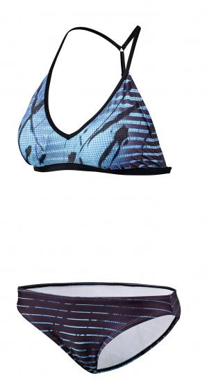 Beco bikini B cup dames polyester/polyamide blauw/zwart maat 42