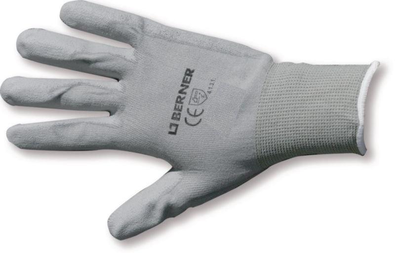 Berner Handschoenen B Grip Polyurethaan Wit Maat 8-M