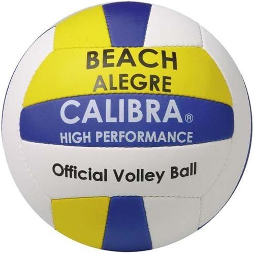 Calibra beachvolleybal Alegre wit-geel-blauw maat 5