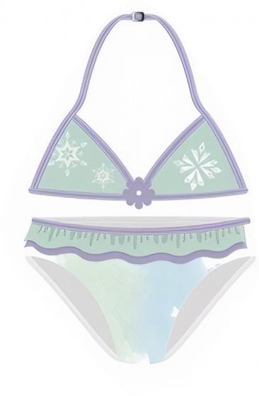 Disney bikini Frozen meisjes polyester groen-paars maat 116