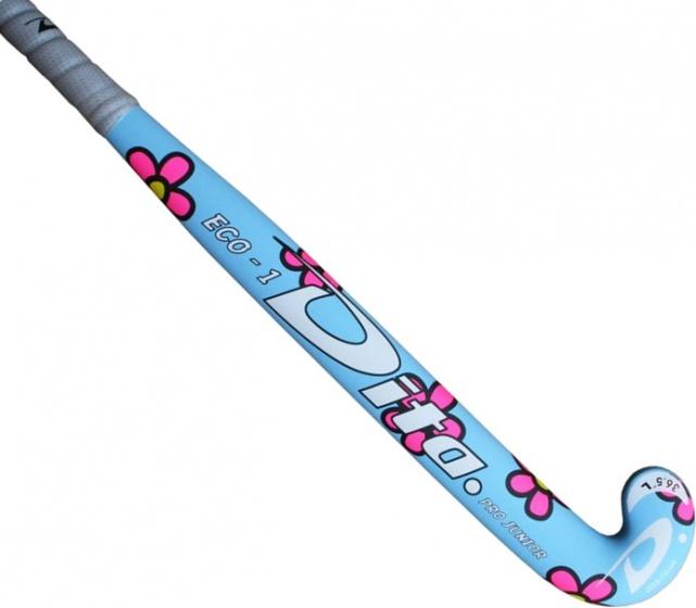Dita hockeystick Pro Junior Flower 36.5 inch blauw