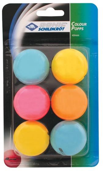Tafeltennisballen gekleurd