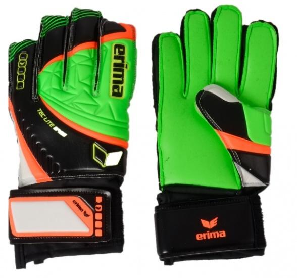 Erima Tec Lite Ergo Keeperhandschoenen groen-zwart maat 5,5